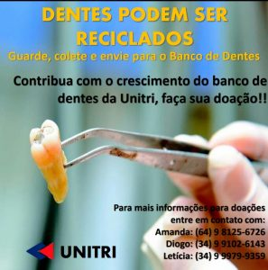 Banco de Dentes Humanos da Unitri pede doações 5